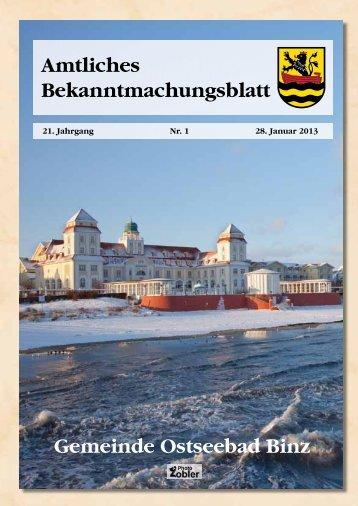 Nr. 1 vom 28. Januar 2013 - Gemeinde Binz