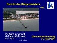Gemeindevertretung vom 31.01.2013 - Gemeinde Binz