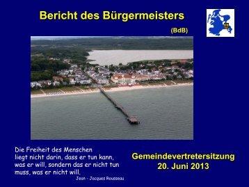 Gemeindevertretung vom 20.06.2013 - Gemeinde Binz