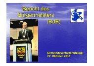 Gemeindevertretung vom 27.10.2011 - Gemeinde Binz