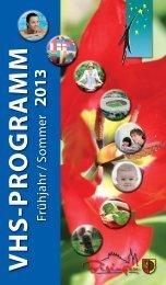 Volkshochschulprogramm Frühjahr/Sommer 2013 - Gemeinde ...