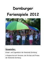 Dornburger Ferienspiele 2012 - Gemeinde Dornburg