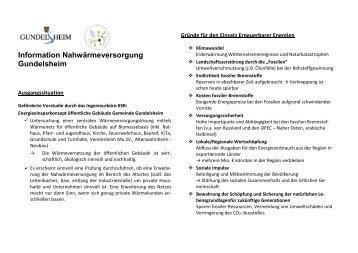 Informationsblatt zum Nahwärmenetz - Gemeinde Gundelsheim