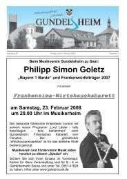 Jahrgang 26 Freitag, den 8. Februar 2008 Nummer 3 - Gemeinde ...