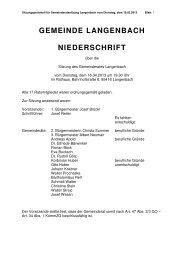 Gemeinderatssitzung vom 16.04.2013 - Langenbach