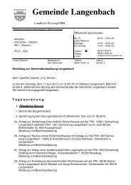Gemeinde Langenbach