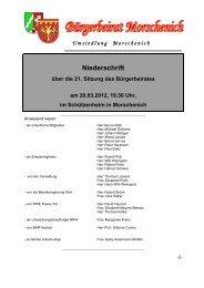 21. Bürgerbeiratssitzung, Niederschrift vom 20.03.2013 - Gemeinde ...