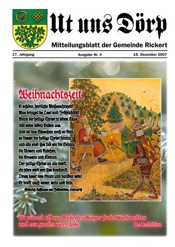 Weihnachtszeit - Gemeinde Rickert