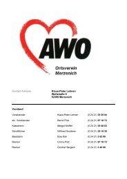 Weitere Informationen zur AWO Merzenich - Gemeinde Merzenich