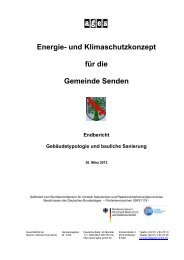 Gebäudetypologie und bauliche Sanierung - Gemeinde Senden