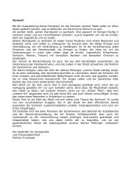 Fachplan Senioren - Stadtgemeinde Bozen