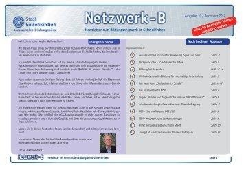 Ausgabe 10 / Dezember 2012 - Regionale Bildungsnetzwerke