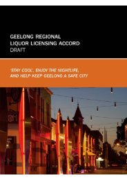 Geelong Liquor Licensing Accord - City of Greater Geelong