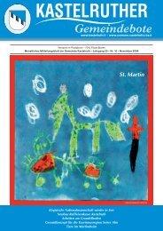 Kastelruther Gemeindebote - Ausgabe November 2007 (4 Mb)