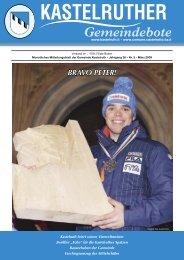 Kastelruther Gemeindebote - Ausgabe März 2009 (3,72 MB)