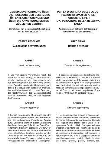 Verordnung über die Regelung der Besetzung öffentl