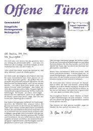 August / September / Oktober - Evangelische Kirchengemeinde ...