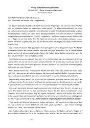 28.04., Predigt zur Konfirmation, Pfr. Sigloch