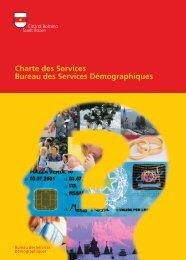 Charte des Services Bureau des Services Démographiques