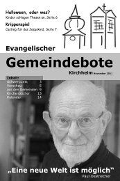 November 2011 - Gemeindebote