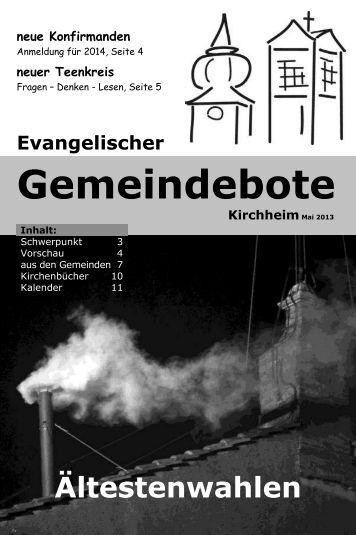 Mai 2013 - Gemeindebote