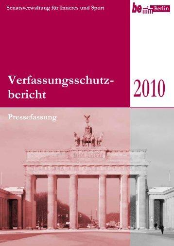 Verfassungsschutzbericht 2010 - U18