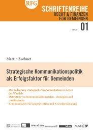 Strategische Kommunikationspolitik als Erfolgsfaktor für Gemeinden