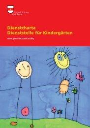 Dienstcharta Dienststelle für Kindergärten - Comune di Bolzano