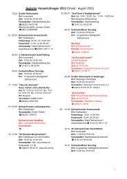 Geplante Veranstaltungen 2012 (Stand : August 2011) - Gemeinde ...