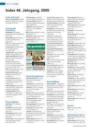 Index 48. Jahrgang, 2005 - Der Gemeinderat