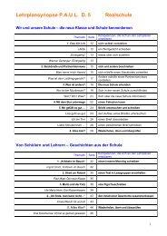 Lehrplansynopse P.A.U.L. D. 5 Realschule