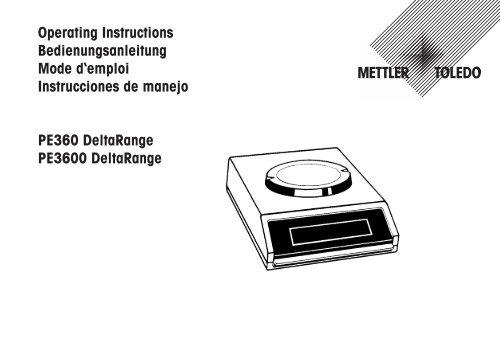 Operating Instructions PE360 DeltaRange and PE3600 DeltaRange