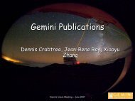 Science Operations - Gemini Observatory