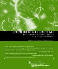 Coneixement i Societat núm. 15 - Generalitat de Catalunya