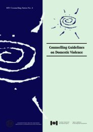 Counselling Guidelines on Domestic Violence - the GBV Prevention ...