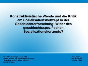 Soziale Konstruktion des Zweigeschlechtersystems und doing ...