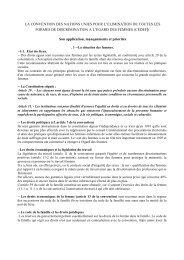 LA CONVENTION DES NATIONS UNIES POUR L'ELIMINATION DE ...