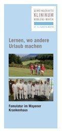 Famulatur - Gemeinschaftsklinikum Koblenz-Mayen