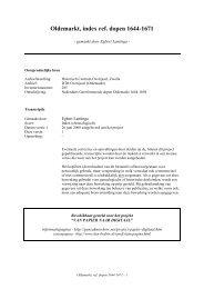 Oldemarkt, index ref. dopen 1644-1671 - Geneaknowhow.net