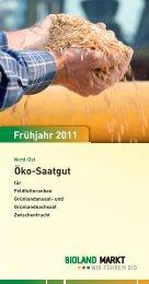 Öko-Saatgut Frühjahr 2011 - Bioland Markt GmbH