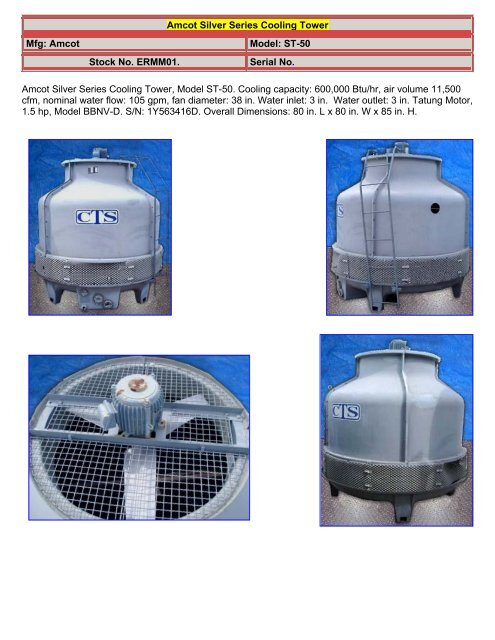 Amcot Silver Series Cooling Tower