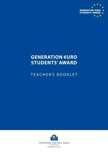 teacher's booklet - the Generation ?uro Students' Award