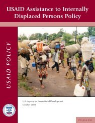 USAID Assistance to Internally Displaced Persons Policy