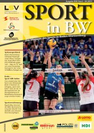Sport in bw Nr. 04/11 - Badischer Sportbund Nord ev