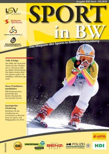 Sport in bw Nr. 04/10 - Badischer Sportbund Nord ev