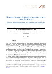 Armed Non-State Actors and International Norms: - Geneva ...