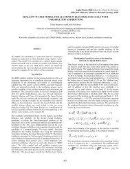 Shallow Water Model for Aluminium Electrolysis Cells ... - GeniSim