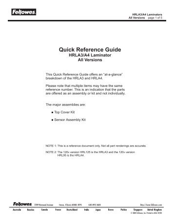 HRLA3and A4_Quick Reference.cdr - Genius