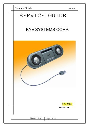 SP-i205U Service manual.pdf - Genius