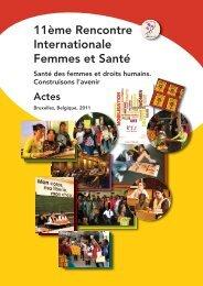 11ème Rencontre Internationale Femmes et Santé - PPSF : Une ...